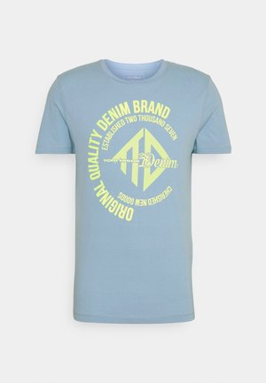 WITH COINPRINT - Print T-shirt - foggy blue