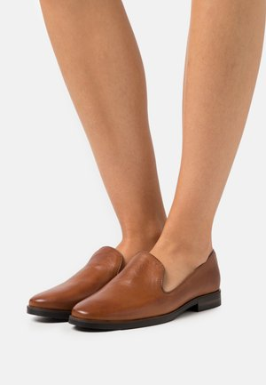 LEATHER - Loafers - cognac