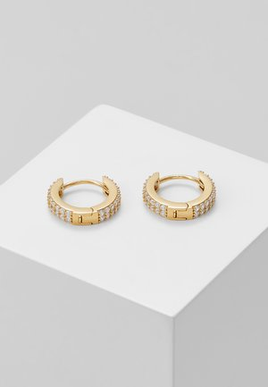 CHUNKY HUGGIE HOOPS - Earrings - pale gold-coloured
