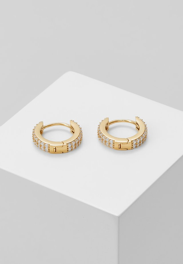 CHUNKY HUGGIE HOOPS - Pendientes - pale gold-coloured
