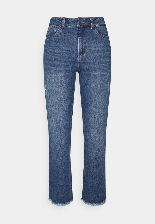 NICOLE CROPPED - Relaxed fit jeans - blue washed denim