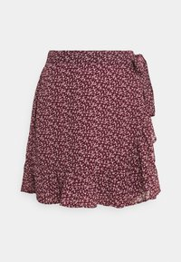 Hollister Co. - SOFT FLIRTY DAY TO NIGHT - Wrap skirt - burg - 3