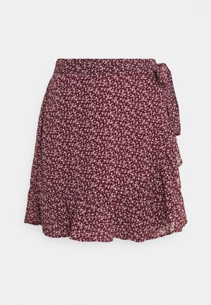 SOFT FLIRTY DAY TO NIGHT - Wrap skirt - burg