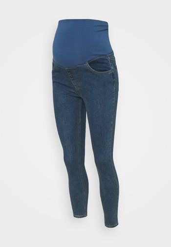 MATERNITY CROPPED SKINNY JEAN OVER BELLY - Jeans Skinny Fit - southside blue