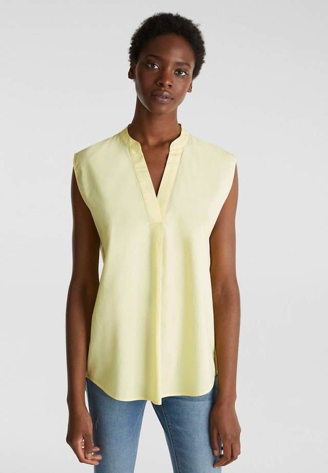 BLUSEN-TOP AUS 100% BIO-BAUMWOLLE - Blus - lime yellow