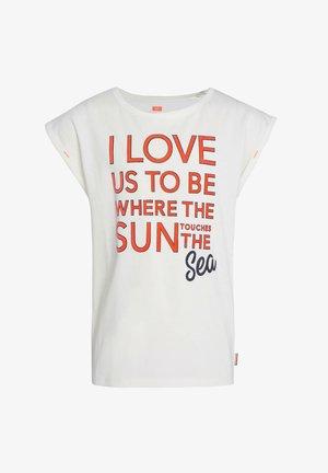 MET TEKSTAPPLICATIE - T-shirt print - white
