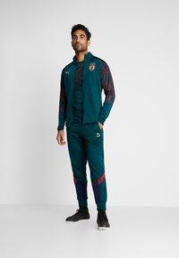 Puma - ITALIEN FIGC STADIUM THIRD JACKET - Træningsjakker - ponderosa pine/cordovan - 1
