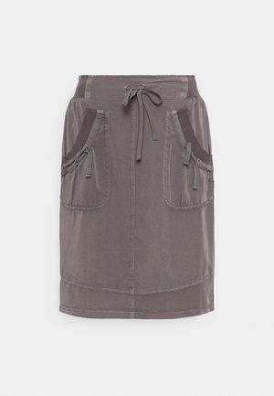 NANNA  - A-line skirt - pitch black