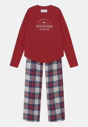 SLEEP PANTS - Pyjama set - red/white