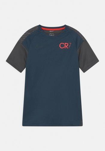 CR7 UNISEX - Print T-shirt - armory navy/anthracite/black