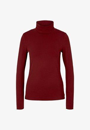 Long sleeved top - burned cordovan red
