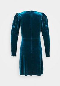 Closet - CLOSET WRAP FRONT PUFF SHOULDER DRESS - Day dress - teal - 7
