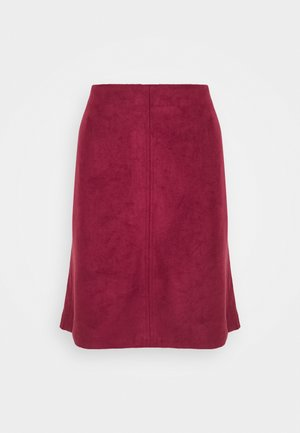 A-line skirt - bordeaux red
