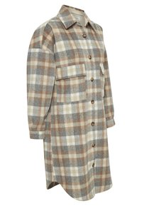 Cream - TARACR OZ SHIRT - Classic coat - feather gray check - 5
