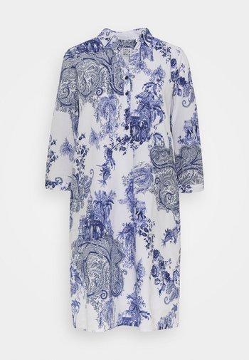 Kjole - white/blue