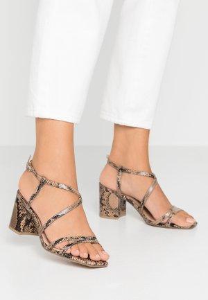 WIDE FIT TACHO  - Sandals - stone