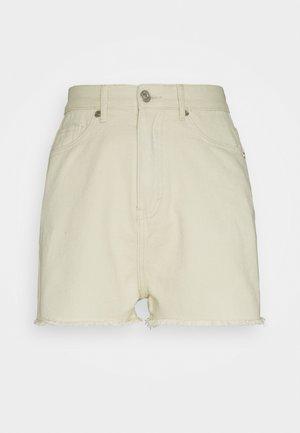 LIGHTWASH FRAY HEM - Shorts - stone