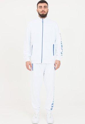 Felpa con zip - optical white