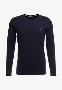SLIM FIT TEE - Long sleeved top - blue