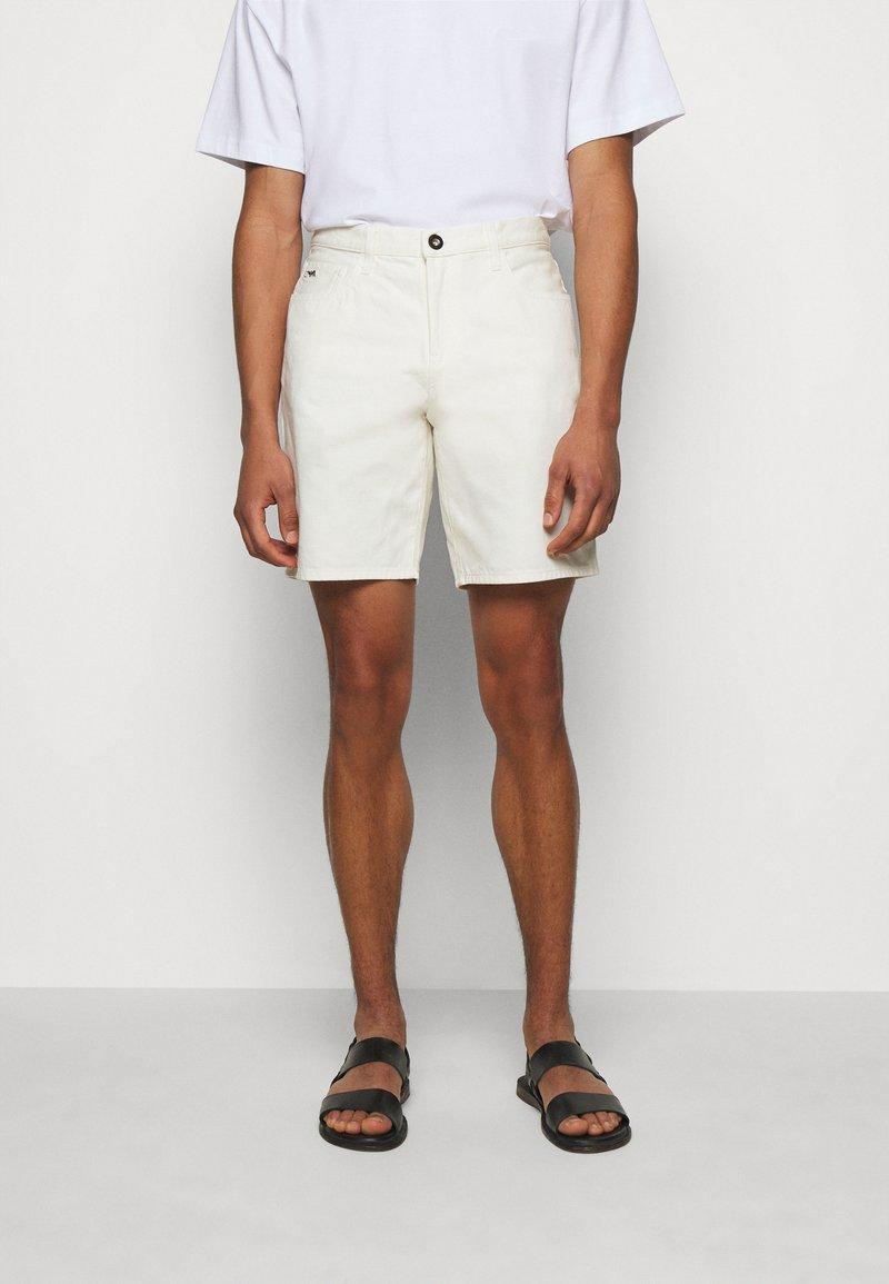 Emporio Armani - BERMUDA - Denim shorts - white
