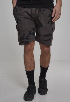 CARGO TERRY - Shorts - dark camo