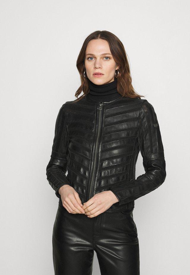 SURI LELEV - Kožená bunda - black