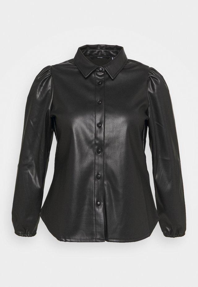 VMLIO CURVE - Button-down blouse - black
