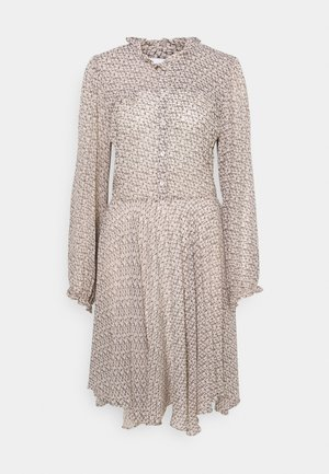 LACING DRESS - Shirt dress - cement