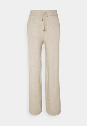 VIRIL STRAIGHT PANTS - Pantalones deportivos - natural melange