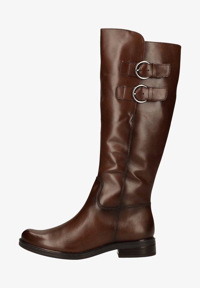 Vysoká obuv - dk brown nappa