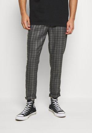 SLATE MAKE ELASTIC WAIST - Pantalon classique - dark grey