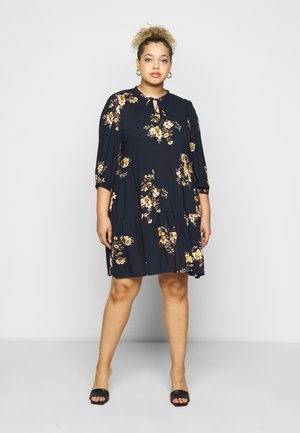 CARNEWMARRAKESH 3/4 TUNIC DRESS - Kjole - night sky