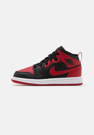 1 MID UNISEX - Indoorskor - black/gym red/white