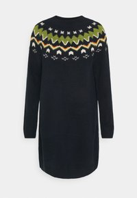 TOM TAILOR DENIM - KNITTED FAIRISLE  - Jumper dress - real navy blue - 0