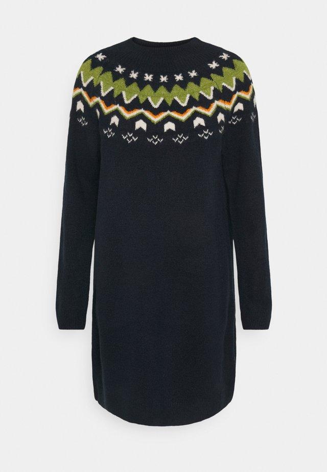 KNITTED FAIRISLE  - Jumper dress - real navy blue