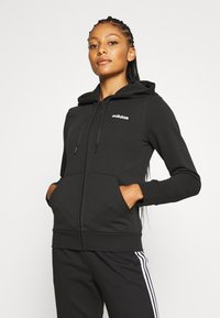 adidas Performance - Zip-up hoodie - black/white - 0