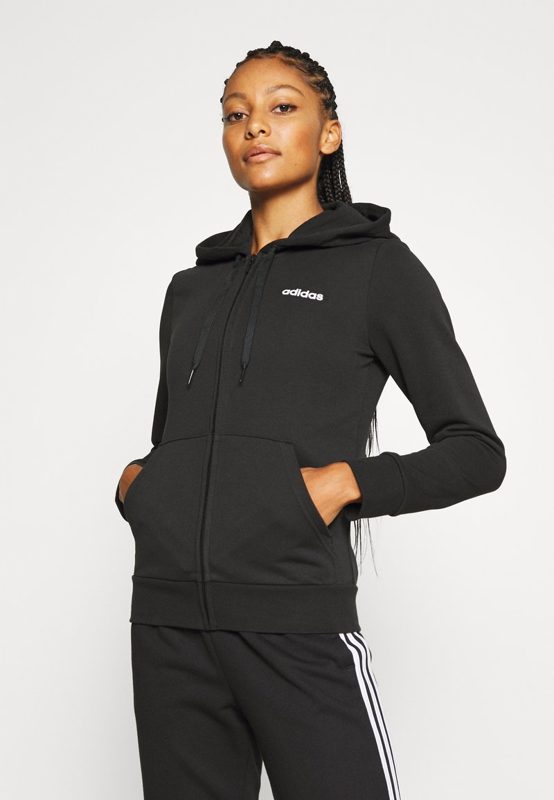 adidas Performance - Zip-up hoodie - black/white