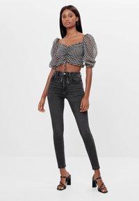 Bershka - Jeans Skinny - black denim - 1