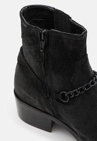 ALDO - SORICK - Cowboy/biker ankle boot - black - 5