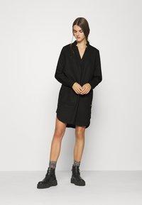 G-Star - MILARY V NECK SHIRT DRESS L\S - Vestido informal - black - 1
