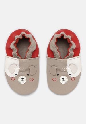 WOOAFY UNISEX - First shoes - gris/taupe/rouge