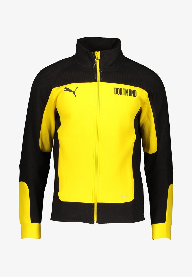 Puma - BVB BORUSSIA DORTMUND EVOSTRIPE JACKET - Club wear - gelbschwarz