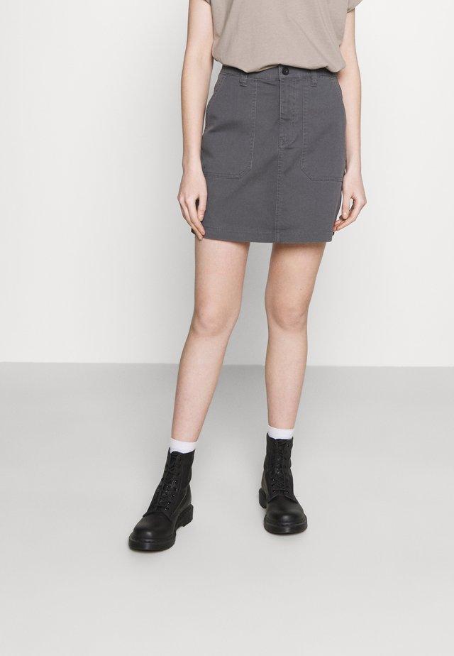 IGGY UTILITY SKIRT - Mini skirt - soil