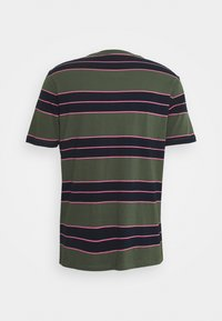 Club Monaco - NIRVANA STRIPED TEE - Print T-shirt - navy - 1