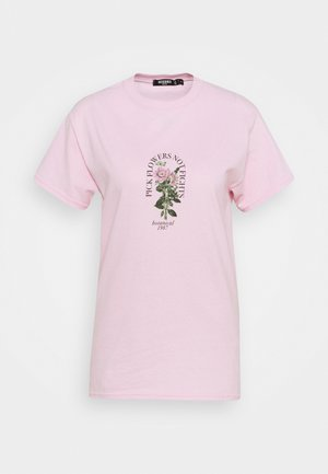 PICK FLOWERS NOT FIGHTS - T-shirts med print - baby pink