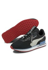 Puma - Trainers - p black-p white-highrisk red - 2
