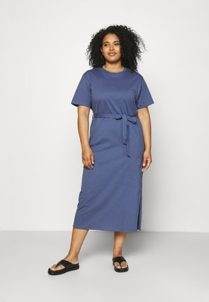 BELTED MIDI DRESS - Jersey dress - dark blue