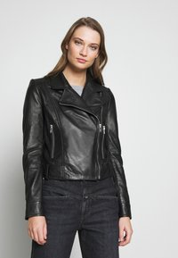 DRYKORN - PAISLY - Leather jacket - black - 0