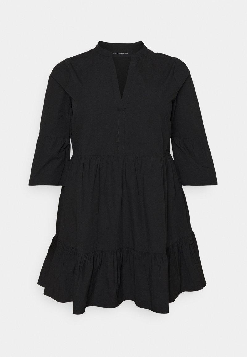 ONLY Carmakoma - CARCORINNE TUNIC DRESS - Korte jurk - black
