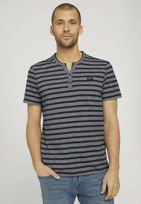 TOM TAILOR - Camiseta estampada - blue white stripe - 0